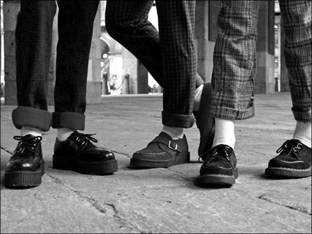 Shoes emblématiques de différents mouvements, rockab, Teddy, psycho ou punk, ce sont des :