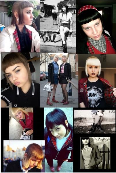 Ce sont les copines des skinheads, avec cette coupe de cheveux, si... particulière. On les appelle :