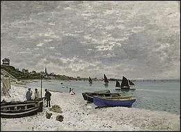 """Qui a peint """"La Plage de Sainte-Adresse"""" ?"""