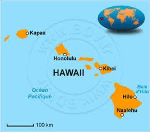 Dernier État à intégrer l'Union, le 21 août 1959, Hawaï ou Hawaii est un archipel constitué de 137 îles. Seul État situé en dehors du continent nord-américain, car localisé en Océanie, ses huit principales îles sont : Niihau, Kauai, Molokai, Lanai, Kahoolawe, Maui, Hawaï et Oahu. Île d'Oahu où se situe sa capitale depuis 1959 : quel est son nom ?