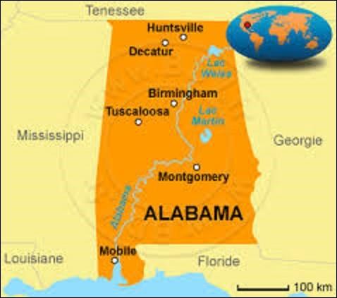 """Ce quiz se fait par ordre chronologique des États des États-Unis, on commence donc par la lettre """"A""""... Adhérant à l'Union depuis le 14 décembre 1819, l'Alabama est un État du Sud des États-Unis. Comptant une population de 4 779 736 habitants, quelle ville est sa capitale depuis le 4 février 1861 ?"""