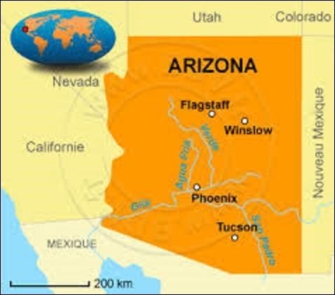 Sixième État le plus vaste américain avec une superficie de 295 254 km², l'Arizona a adhéré à l'Union le 14 février 1912. Se situant à l'ouest des États-Unis, il est le seizième le plus peuplé de ce pays avec 6 392 017 habitants. Quelle ville, fondée en 1868, en est la capitale ?