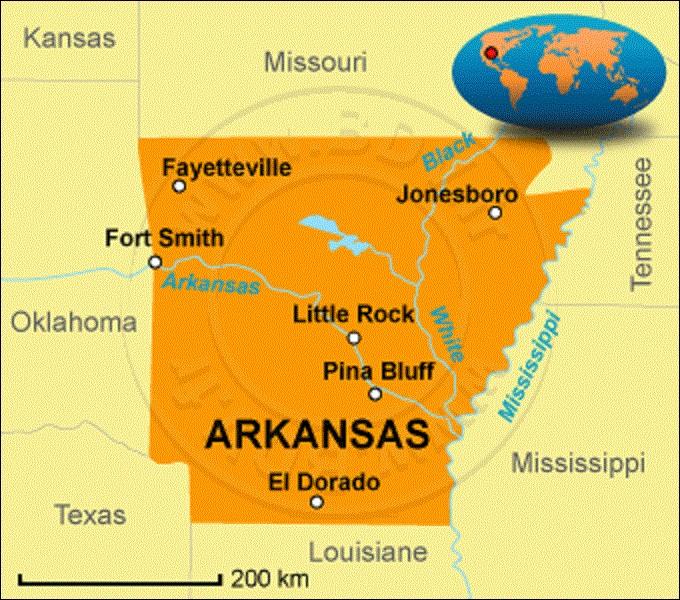 Adhérant de l'Union depuis le 15 juin 1836, l'Arkansas est un État du sud. Comptant 2 915 918 citoyens sur une superficie de 137 732 km², il est le 32e le plus peuplé et le 29e État le plus vaste du pays. Fondée en 1819, quelle ville est sa capitale depuis 1821 ?