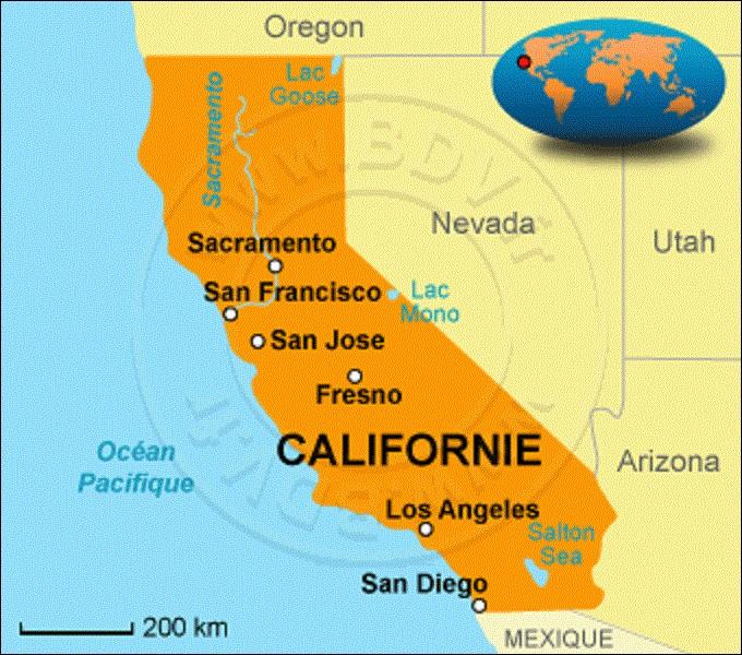 État le plus peuplé avec 39 536 653 habitants, la Californie se situe sur la côte Ouest. Rattaché au Mexique, il prit son indépendance en 1821, puis se proclama République durant la guerre américano-mexicaine le 14 juin 1846. Interdisant l'esclavage, se dotant d'une constitution, il adhéra à l'Union le 9 septembre 1850. Quelle ville fut choisie, en 1854, pour devenir sa capitale ?