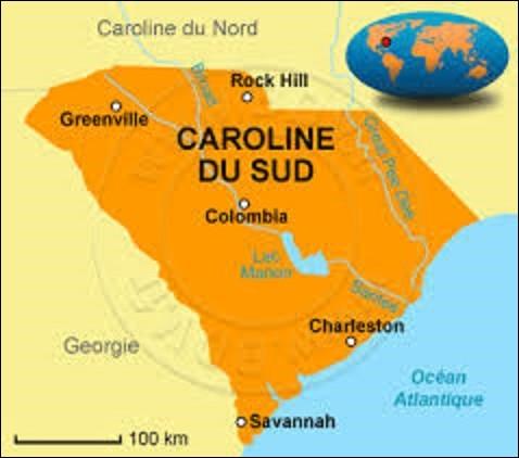 Faisant partie des ''Treize colonies'' qui fondèrent les États-Unis suite à la guerre d'indépendance au Royaume de Grande-Bretagne de 1775 à 1783, la Caroline du Sud est un État du sud comptant 4 625 364 âmes. Peuplée dès 1562 par des colons protestants français, avant que les Britanniques ne s'approprient la région en 1663, elle adhèra à l'Union le 23 mai 1788. Quelle ville en est la capitale ?