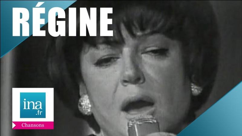 Régine a eu le plaisir d'interpréter...