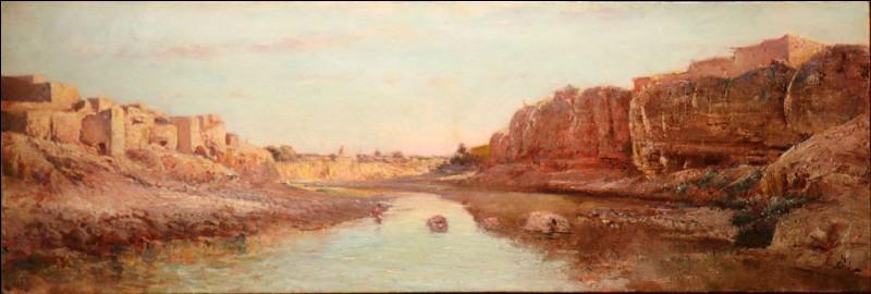En voyage, je fais la connaissance du « peintre des horizons en feu et des amandiers en pleurs », Victor Noiré. On devine notre attrait commun pour ses paysages ... (Complétez !)