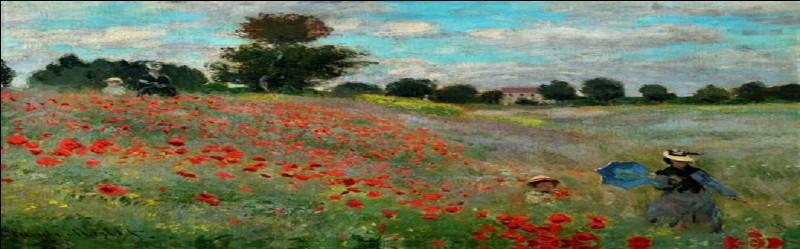"""""""Coquelicots, la promenade"""" est un tableau peint par Monet."""