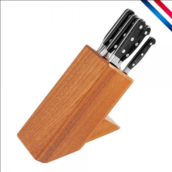 Combien y a-t-il de couteaux de cuisine principaux ?