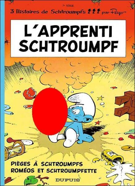 Que tient l'apprenti Schtroumpf dans sa main ?