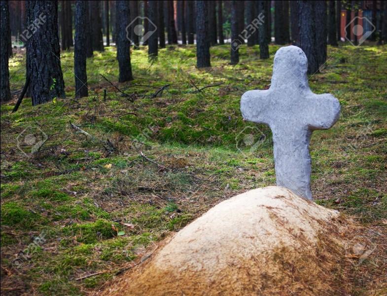 Où Plume Grise enterre-t-il Rivière d'Argent ?