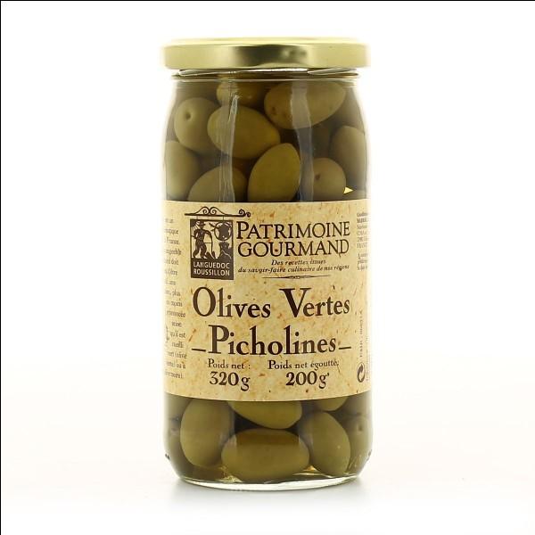Avec quels bonbons rime cette variété d'olives ?