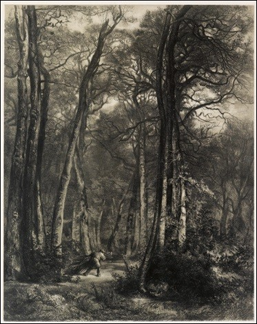 """Ce tableau s'intitule """"En forêt"""", qui l'a réalisé ?"""
