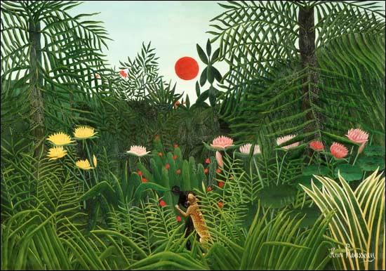 """Qui est le peintre de """"la forêt vierge avec le soleil"""" ?"""
