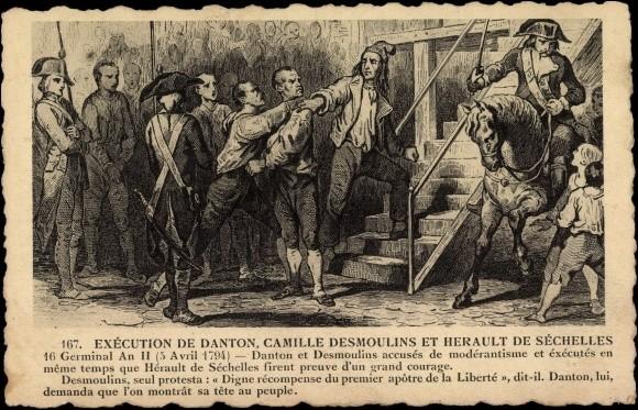 Camille Desmoulins aurait dit un dernier mot avant sa mort. Qu'est-ce donc ?