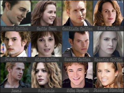 Quels personnages font partie de la famille Cullen ?