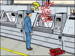C'est machine est actuellement ____ service.