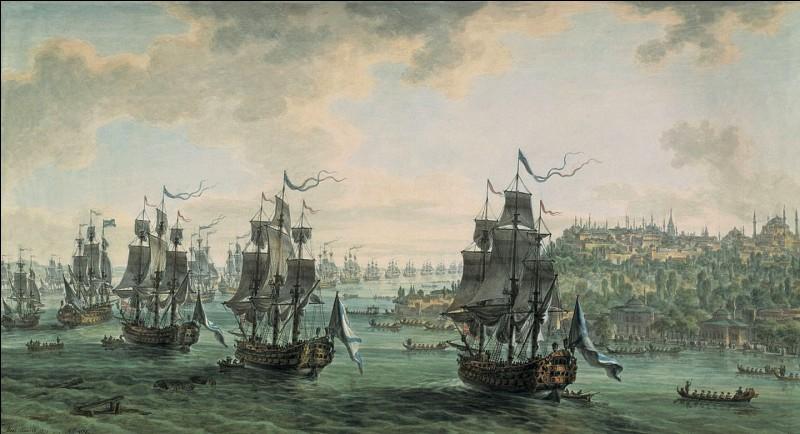 Un de ces quatre navires était de l'expédition, lequel ?