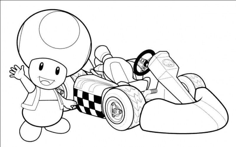 De quelle couleur est son kart dans le jeu « Mario Kart Wii » ?