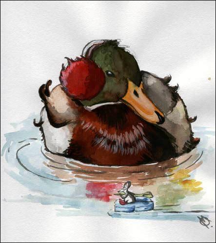 """""""Un froid de canard"""", veut dire un très grand froid, un froid très vif. Mais pourquoi avoir utilisé, comme animal, un canard ?"""