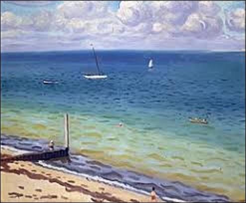 Peinture : Quel peintre postimpressionniste, également fauviste, a exécuté, en 1935, cette huile sur toile intitulée ''Le Pilat'', aussi appelée ''Le Pyla'' ?