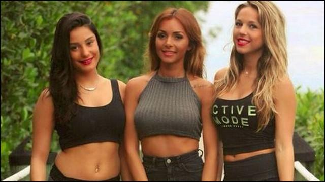 Dans quelle émission a-t-elle fait équipe avec Fidji et Karisma ?