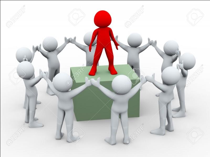 Dans les travaux de groupe/d'équipe, qui est le chef de groupe ?