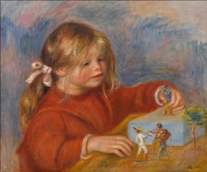 La toile représente son fils, qui est le peintre ?