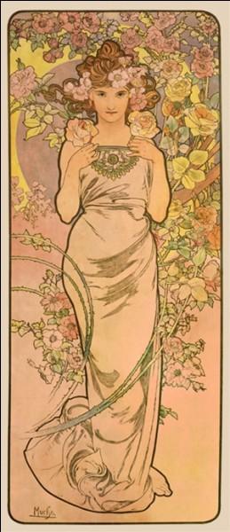 De quelle nationalité est Alfons Mucha (1860-1939) représentant de l'Art Nouveau dont les oeuvres allient souvent la figure féminine stylisée, devenue symbole à des éléments décoratifs influencés par l'estampe japonaise ?