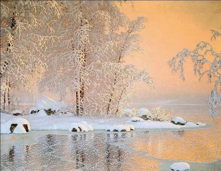 Quel peintre suédois (1868-1948) connu pour ses peintures de paysages enneigés a fondé la colonie Rackstad, un groupe d'artistes qui s'installèrent sur les bords du petit lac de Racken dans le but de s'imprégner de la lumière nordique ?