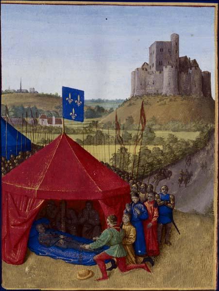 Nommé grand connétable pendant la Guerre de Cent Ans, je fus chargé par le roi de chasser les mercenaires qui pillaient son territoire. Pourtant, ce fut une grosse diahrrée qui mit fin à mes jours. Qui suis-je ?