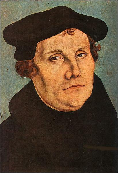 Professeur à l'université de Wittenberg, je rédigeai en 1517 95 thèses pour réformer l'Eglise. Qui suis-je ?