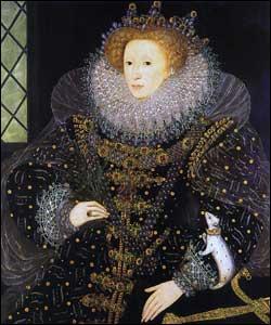 Je suis la fille d'Anne Boleyn. Je devins reine d'Angleterre à la mort de ma demi-soeur Marie la Sanglante. Mon règne fut grand et prestigieux. Je réussis à détruire l'Invincible Armada de Philippe II en 1588. Qui suis-j