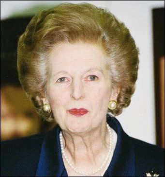 Surnommée la Dame de fer, je fus premier ministre de 1975 à 1990. Ma politique de réformes radicales permit le redressement de l'économie, les fincances et l'industrie de mon pays. Qui suis-je ?