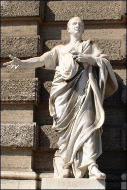 Mon talent en rhétorique fit de moi l'un des hommes les plus influents de Rome dans la première moitié du Ier siècle av. JC. Je fus entre autre le grand artisan de la condamnation de Catilina. Qui suis-je ?