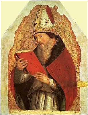 Je suis l'un des quatre pères de l'Eglise. J'écrivis essentiellement au Vème siècle et mon livre le plus célèbre est la 'Cité de Dieu'. Qui sui-je ?