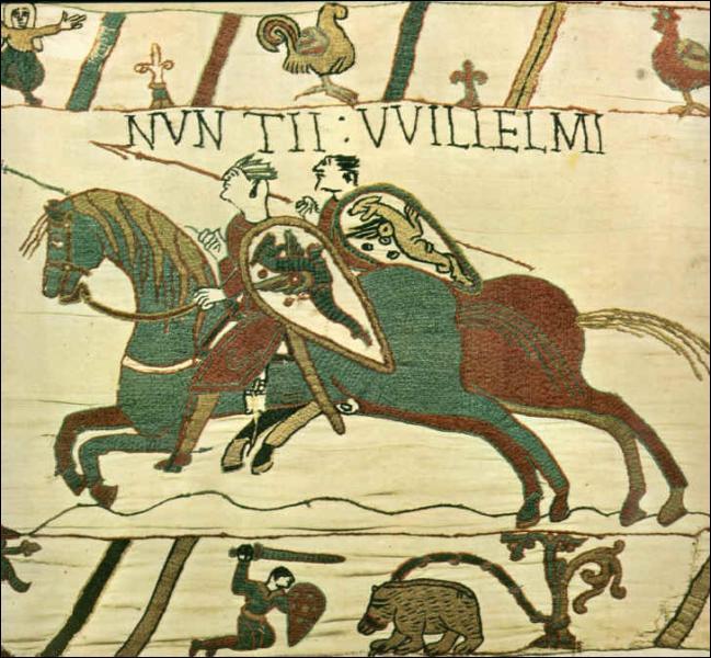 D'abord duc de Normandie, je me lançai en 1066 à la conquête de la Grand Bretagne que j'obtins après la bataille d'Hastings. Qui suis-je ?