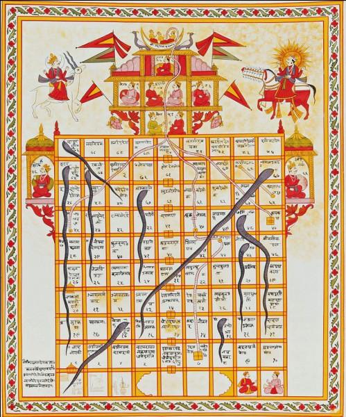 Voici un jeu hindou très porté sur la religion, et qui ressemble beaucoup au jeu de l'oie. Quel est son nom ?