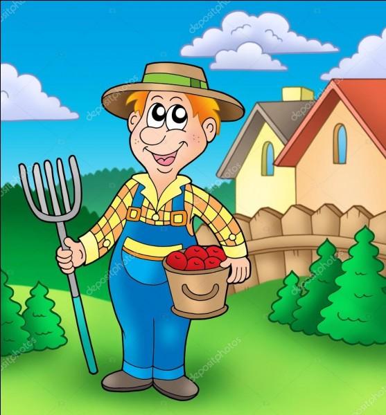 De quelle couleur est la main du jardinier ?