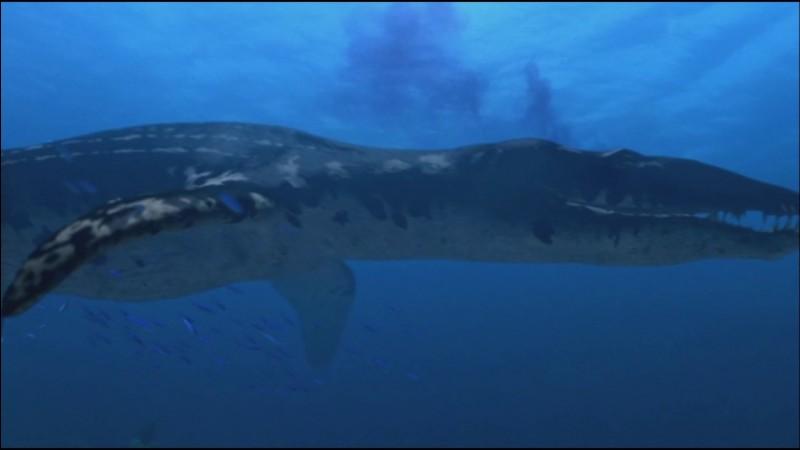 Quel était le seul reptile marin qui pouvait mesurer jusqu'à 25 m ?
