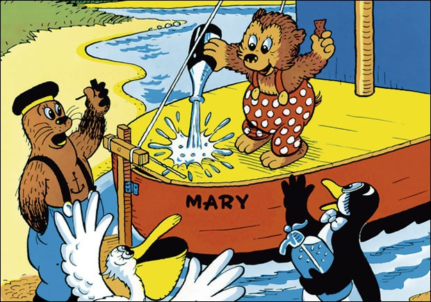 """Quel est cet ours qui parcourt le monde à bord de son bateau """"Le Mary"""" ?"""