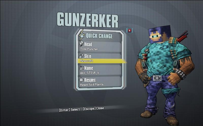 Dans « Borderlands 2 », quel(s) ennemi(s) de « Minecraft » peut-on rencontrer dans l'une des zones du jeu ?