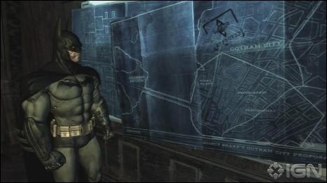 Dans « Batman : Arkham Asylum », comment accéder à cette pièce top secret où l'on peut trouver le plan de Gotham City ?