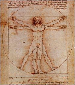 Célèbre italien, à la fois peintre et homme de sciences, j'ai dessiné 'L'homme de Vitruve', je suis ...