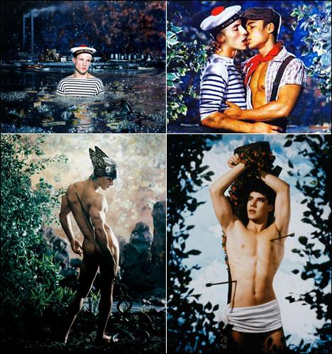Nos œuvres photographiques (retouchées à la peinture) abordent les thèmes de la culture pop, de la culture gay, y compris la pornographie, ou la religion, nous sommes ...