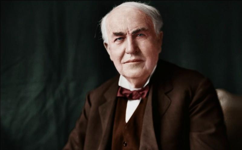 Qu'a donc inventé Thomas Edison en 1879 ?