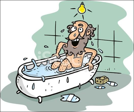 Archimède est l'un des plus grands mathématiciens ayant existé. On lui doit de nombreuses découvertes et des formules complexes. Que s'était-il écrié en découvrant l'une d'elles ?