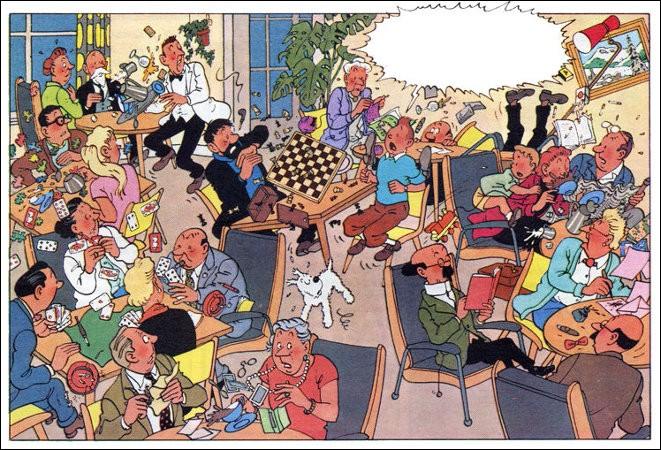 Nous sommes au début d'une aventure qui nous emmènera au Tibet. Mais que dit Tintin, réveillé en sursaut ?