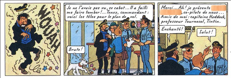 """Dans la famille """"Vol 714 pour Sydney"""", retrouvez le nom du copilote pas très sympa..."""