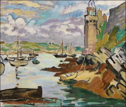 """Qui a peint """"Phare sur la côte, tour fortifiée"""" ?"""